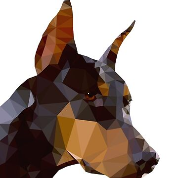 Doberman Original Low Polygonal Art. by StRes
