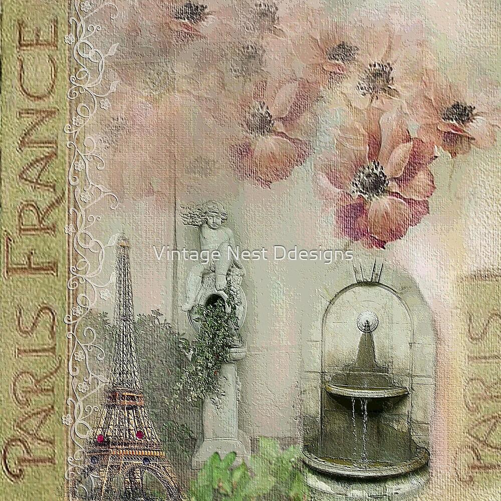 Paris Nights Paper 5 by Vintage Nest Ddesigns