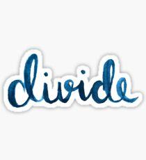 Divide Watercolour Sticker