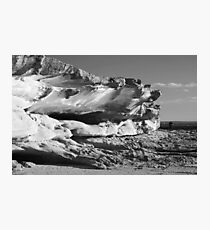 Rock eroded by sea Photographic Print