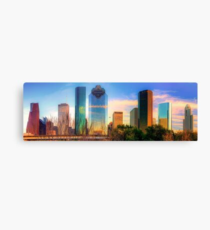 Houston Texas Panoramic Skyline at Sunset Canvas Print