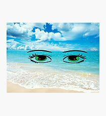 Earth on eyes Photographic Print