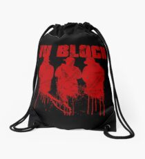 WU BLOCK Drawstring Bag