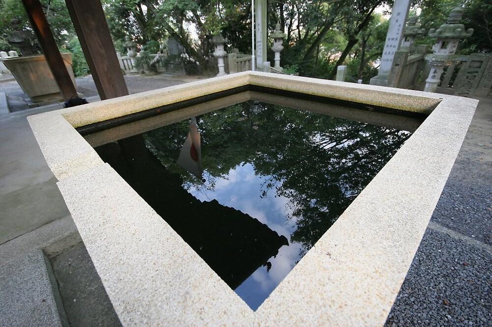 Reflective Japan - Kume temple (Matsuyama) by Trishy