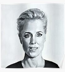 Gillian Anderson Painting Poster