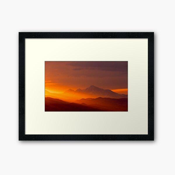 Rain Of Color On Longs Peak Framed Art Print