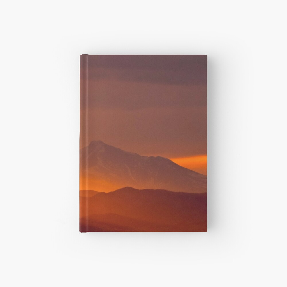 Rain Of Color On Longs Peak Hardcover Journal