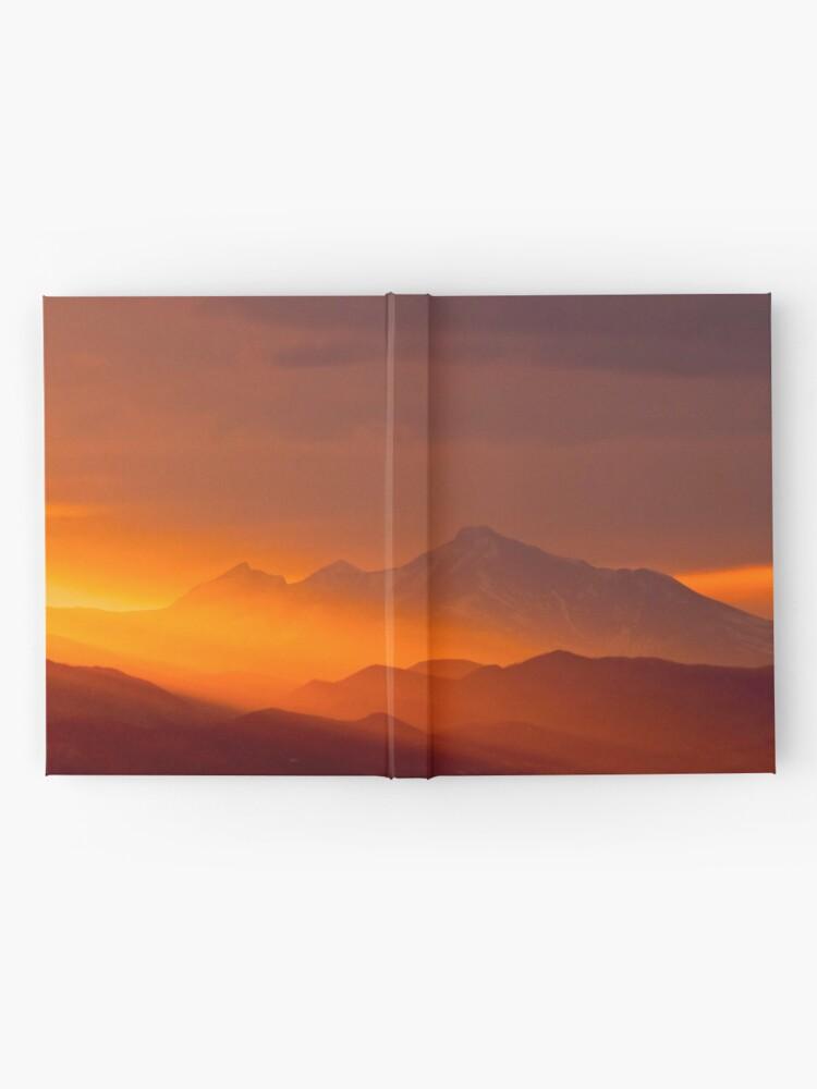 Alternate view of Rain Of Color On Longs Peak Hardcover Journal