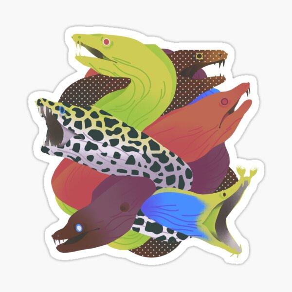 Thick morays Sticker