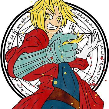 Edward Elric Fullmetal Alchemist Original Art. by StRes