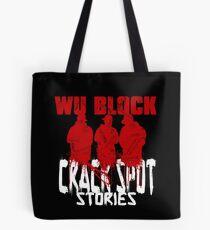 WU BLOCK CSS wht lttrs Tote Bag
