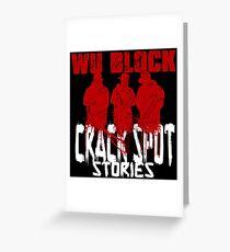 WU BLOCK CSS wht lttrs Greeting Card