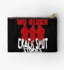 WU BLOCK CSS wht lttrs Studio Pouch