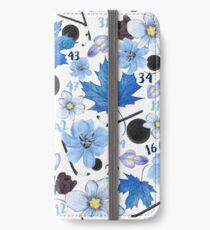 Vinilo o funda para iPhone Diseño floral de Toronto Maple Leafs