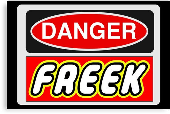Danger Freek Sign by Customize My Minifig