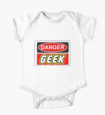 Danger Geek Sign One Piece - Short Sleeve