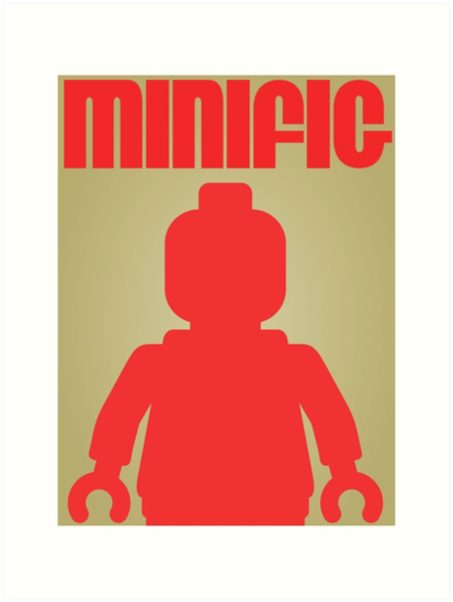 Retro Large Black Minifig, Customize My Minifig by Customize My Minifig
