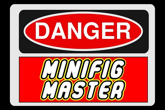 Danger Minifig Master Sign by Customize My Minifig