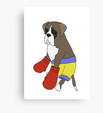 Heavy Weight Boxer Canvas Print