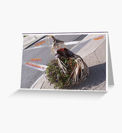 Happy Halloween Scarecrow Greeting Card