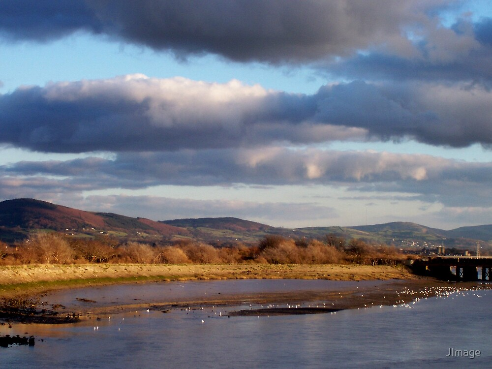 View up the Clwyd River by JImage