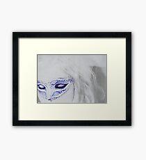 girl with venecian mask Framed Print