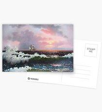 Sunset on open sea Postcards