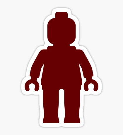 Minifig [Large Dark Red], Customize My Minifig Sticker
