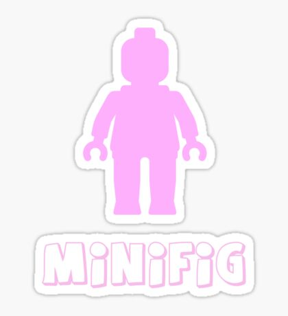 Minifig [Light Pink], Customize My Minifig Sticker