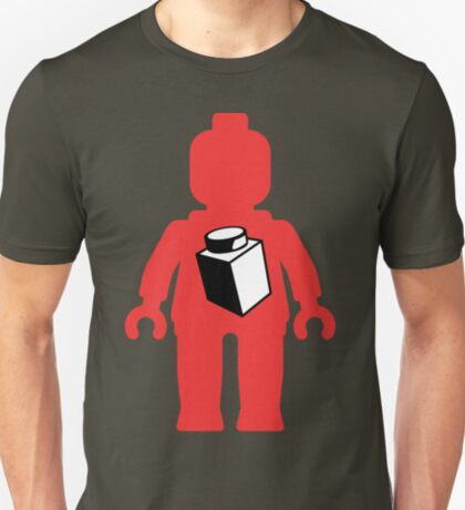 Red Minifig with 1 x 1 Brick Logo, Customize My Minifig T-Shirt