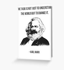 Karl Marx Quote Greeting Card