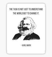Karl Marx Quote Sticker