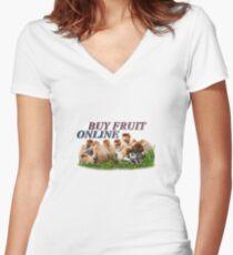 BUY FRUIT ONLINE Women's Fitted V-Neck T-Shirt