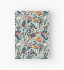 Peppy Springtime Legfish Pattern (Muted Complementaries) Hardcover Journal