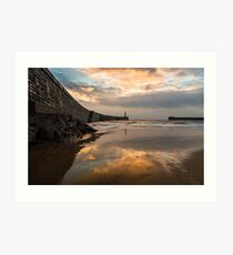 Harbour Sunrise - Seaham, Durham Art Print