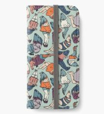 Peppy Springtime Legfish Pattern (Muted Complementaries) iPhone Wallet/Case/Skin