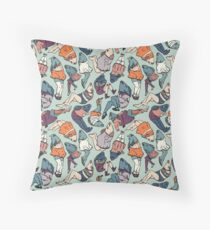 Peppy Springtime Legfish Pattern (Muted Complementaries) Throw Pillow
