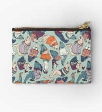 Peppy Springtime Legfish Pattern (Muted Complementaries) Studio Pouch