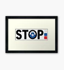 Omar Naber - Stop [2005, Slovenia] Framed Print