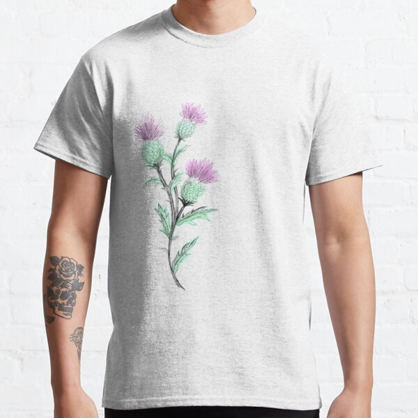 Watercolor Thistle  Classic T-Shirt