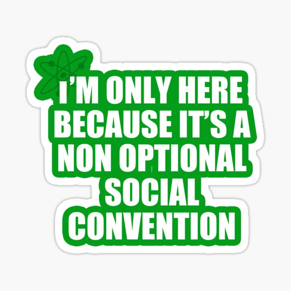 convención social no opcional Pegatina