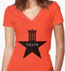Hamilton trash Women's Fitted V-Neck T-Shirt