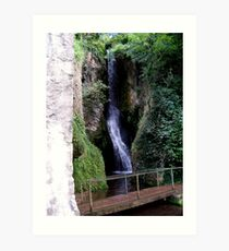Waterfall and Bridge Art Print