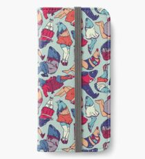 Peppy Springtime Legfish Pattern (Bright Complementaries) iPhone Wallet/Case/Skin