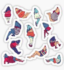 Peppy Springtime Legfish Pattern (Bright Complementaries) Sticker
