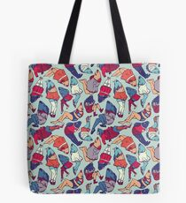Peppy Springtime Legfish Pattern (Bright Complementaries) Tote Bag