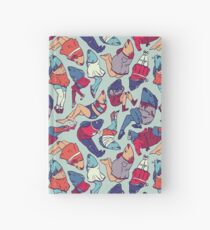 Peppy Springtime Legfish Pattern (Bright Complementaries) Hardcover Journal