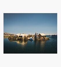 Floating Island on Lake Titicaca Photographic Print