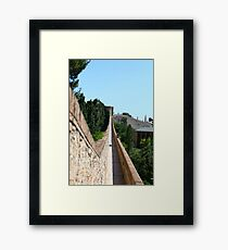 distance perspective long Framed Print
