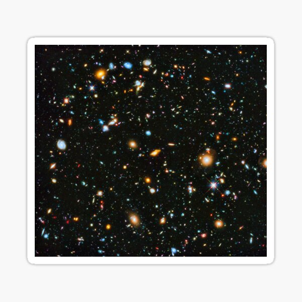 Hubble Extreme Deep Field Landscape Sticker